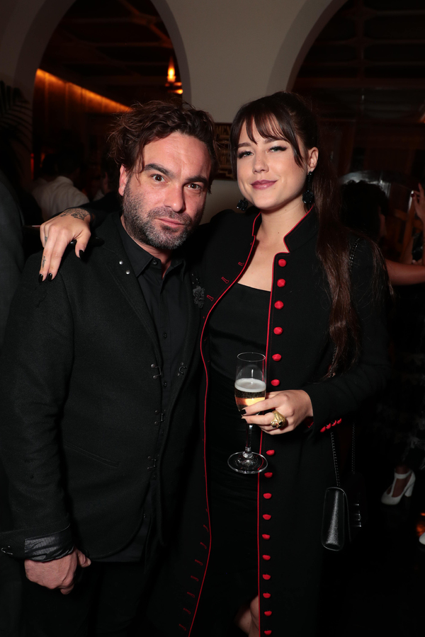Johnny Galecki and guest