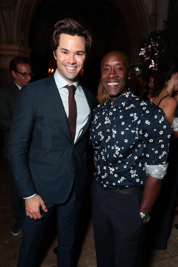 Andrew Rannells and Don Cheadle