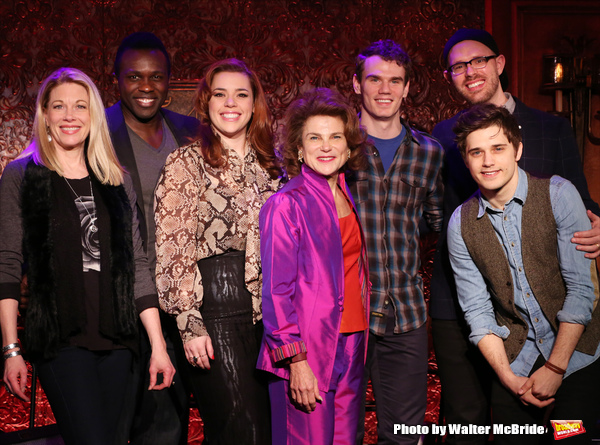 Marin Mazzie, Joshua Henry, Alysha Umphress, Tovah Feldshuh, Jay Armstrong Johnson, Ryan Scott Oliver and Andy Mientus attend A Press Preview at 54 Below on January 22, 2015 in New York City.