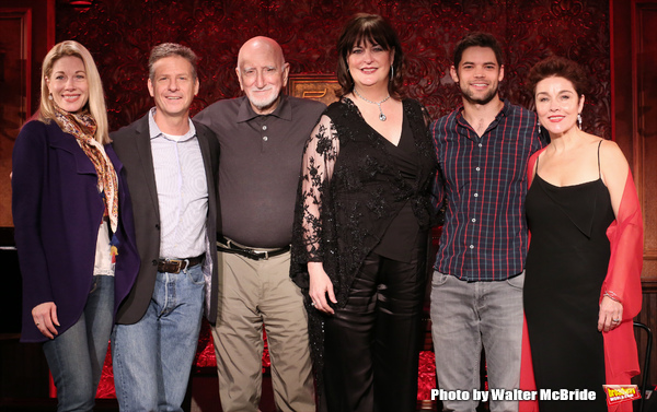 Marin Mazzie, Martin Moran, Dominic Chianese, Ann Hampton Callaway, Jeremy Jordan and Christina Andreas attend the 54 Below Press Preview at 54 Below on October 23, 2014 in New York City.