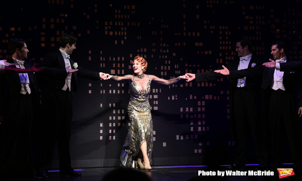 Marin Mazzie during the Broadway Opening Night Performance Curtain Call for ''Bullets Photo