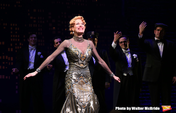 """Marin Mazzie during the Broadway Opening Night Performance Curtain Call for ''Bullets Over Broadway'""""at the St. James Theatre on April 10, 2014 in New York City."""