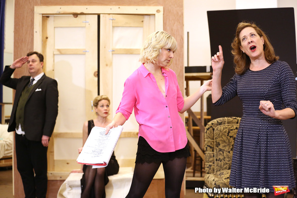 Brooks Ashmanskas, Marin Mazzie, Helene Yorke and Karen Ziemba performing during the sneak peek rehearsal performance of 'Bullets Over Broadway'  on February 13, 2014 at the New 42nd Street Studios in New York City.