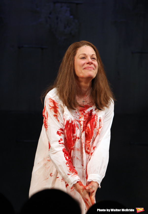 Marin Mazzie.during the Opening Night Curtain Call for the MCC Theater's Production of 'CARRIE' at The Lucille Lortel Theatre on March 1, 2012 in New York City.