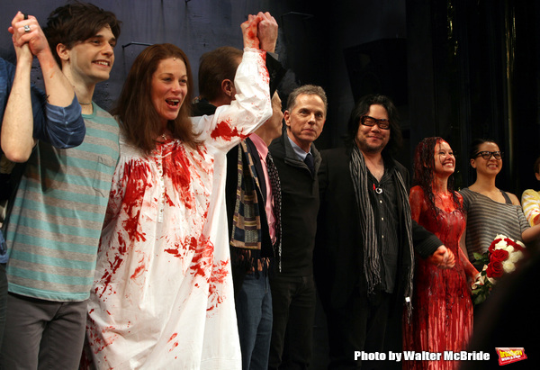 Andy Mientus, Marin Mazzie, Dean Pitchford, Stafford Arima,Molly Ranson & Jen Sese.du Photo