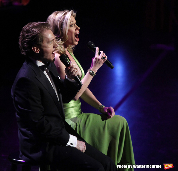 Jason Danieley & Marin Mazzie performing in the New York Philharmonic Gala Evening,SONDHEIM: The Birthday Concert at Avery Fisher Hall, NYC. March 15, 2010