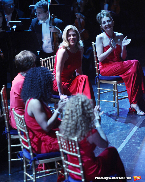Marin Mazzie performing in the New York Philharmonic Gala Evening,SONDHEIM: The Birthday Concert at Avery Fisher Hall, NYC. March 15, 2010
