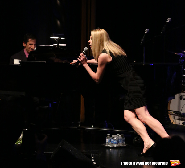 Seth Rudetsky & Marin Mazzie performing at the Marty Richards Memorial - An Evening of Friends, Food & Entertainment at the Edison Ballroom in New York City on 4/8/2013