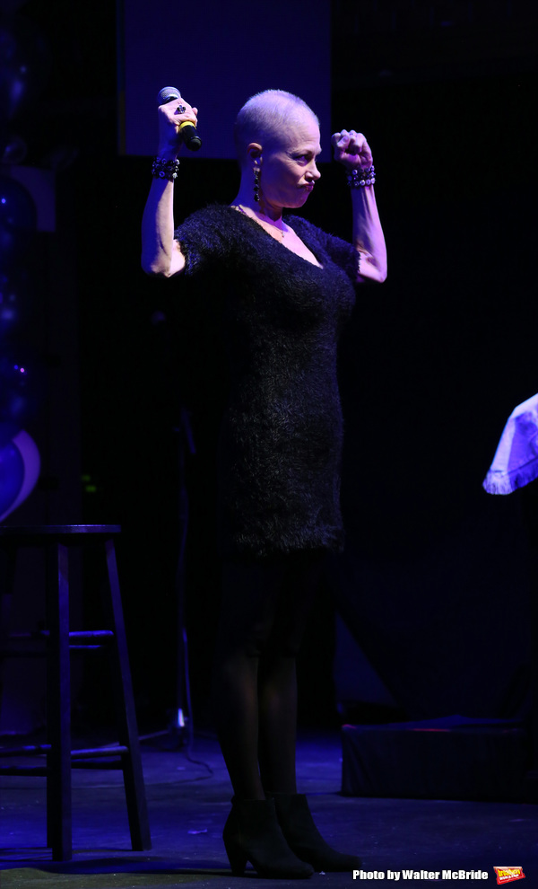 Marin Mazzie during the Stage Directors & Choreographers Foundation presention of The 'Mr. Abbot' Award to James Lapine at Stage 48 on October 19, 2015 in New York City.