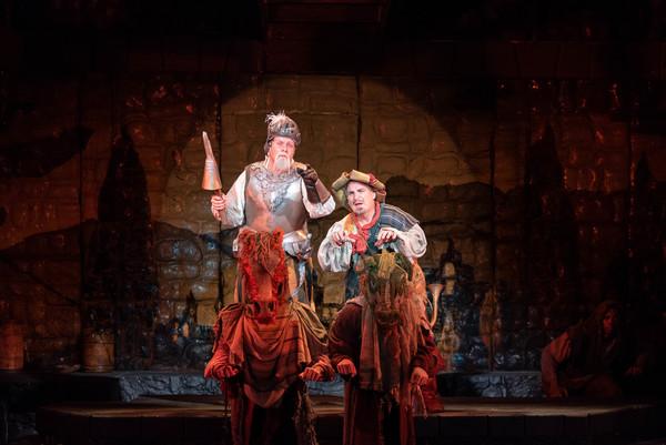 Richard Todd Adams (Don Quixote) and Carlos Lopez (Sancho Panza)