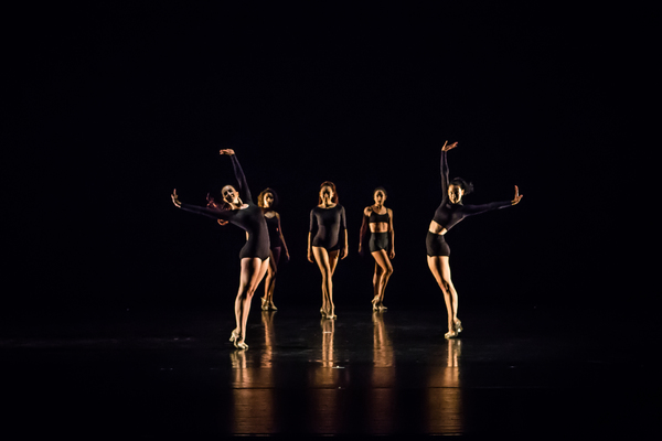 "FJK Dance Company in ""Clockwork"" by guest choreographer Debbie Roshe. Photo by Jaqlin Medlock."