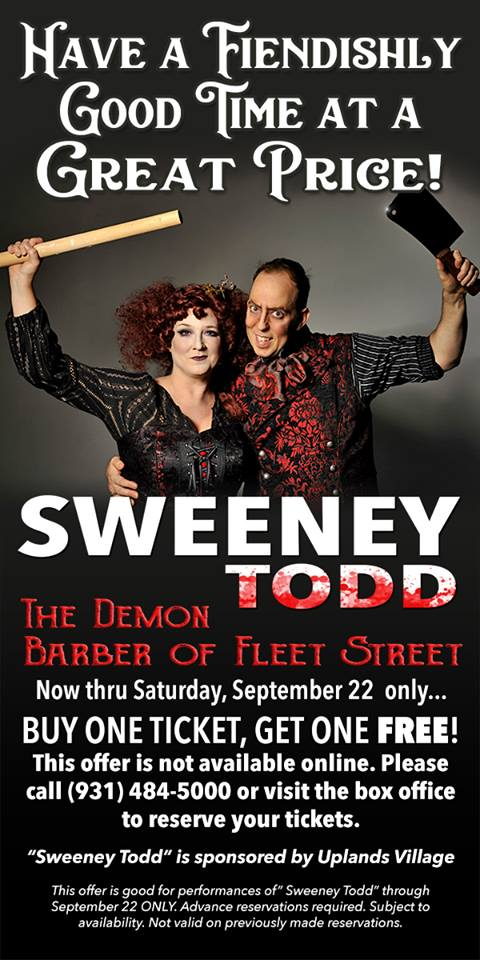 Tuesday 5(+1): SWEENEY TODD's Weslie Webster and Lauren Marshall