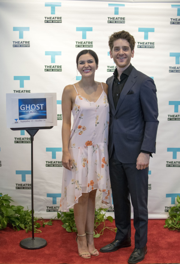 Lead actors Courtney Mack and Garrett Lutz at the Opening Night of Ghost The Musical at Theatre at the Center in Munster.