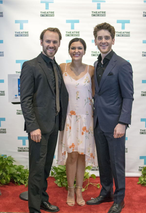 Lead actors Tony Carter, Courtney Mack and Garret Lutz at the Opening Night of Ghost The Musical at Theatre at the Center in Munster.