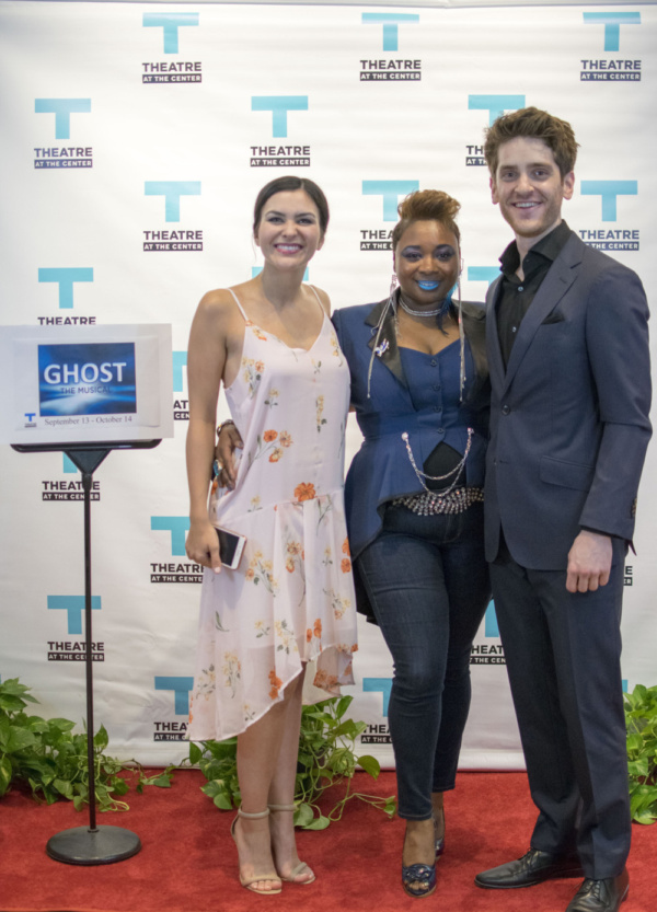 Lead actors Courtney Mack, Donica Lynn and Garrett Lutz at the Opening Night of Ghost The Musical at Theatre at the Center in Munster.