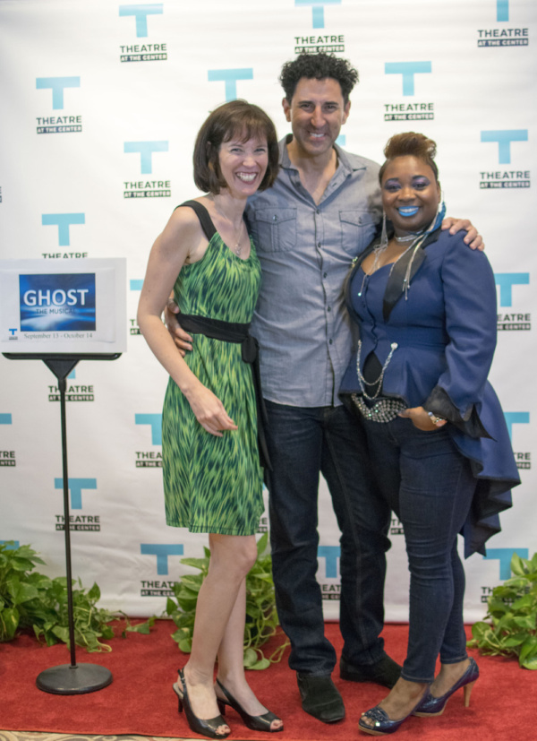 Director Linda Fortunato and her actor husband Sean Fortunato with lead actor Donica Lynn at the Opening Night of Ghost The Musical at Theatre at the Center in Munster.