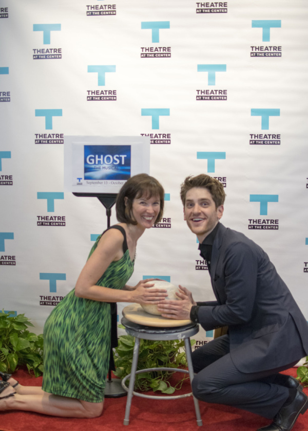 Director Linda Fortunato and actor Garrett Lutz at the Opening Night of Ghost The Musical at Theatre at the Center in Munster.