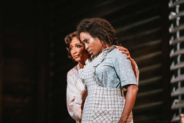 Lana Gordon as Shug Avery and Felicia Boswell as Celie