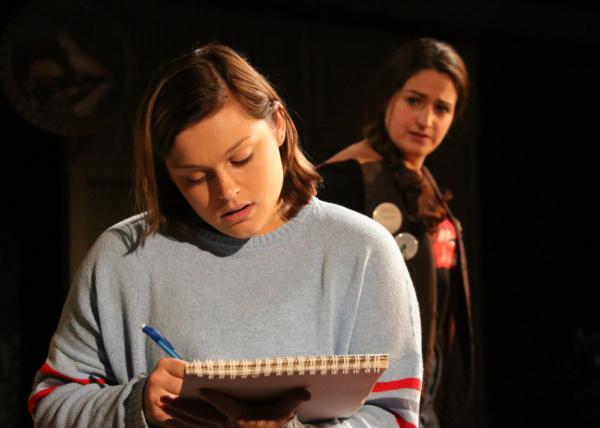 Ashlyn Inman as Medium Alison and Brittany Rolfs as Joan.