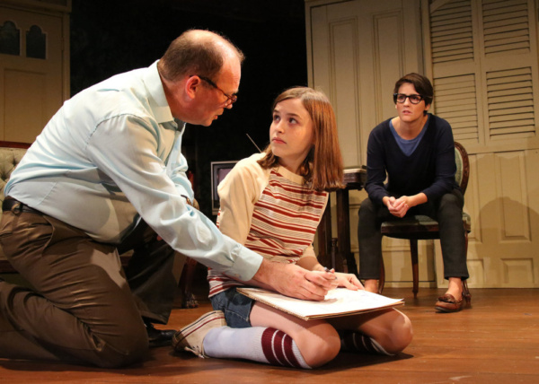 Richard Jay Sullivan, Carly Williams and Amanda Collins as Alison Bechdel.