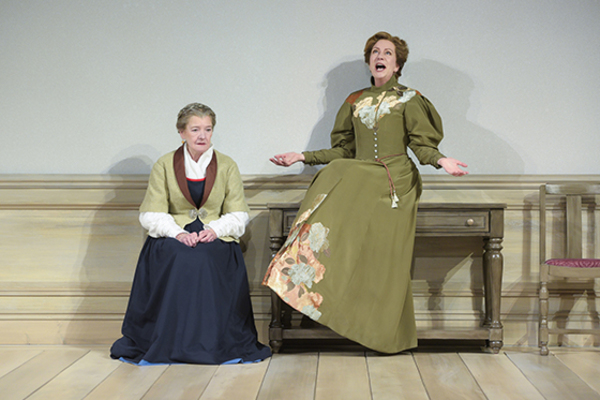 "Nancy E. Carroll (Anne Marie) and Mary Beth Fisher (Nora) in Berkeley Rep's production of ""A Doll's House, Part 2� directed by Les Waters."