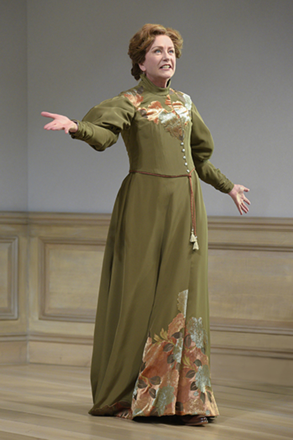 """Mary Beth Fisher (Nora) in Berkeley Rep's production of �""""A Doll's House, Part 2"""" directed by Les Waters."""