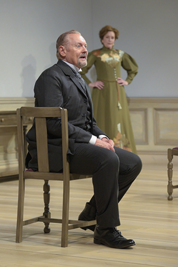 "John Judd (Torvald) and Mary Beth Fisher (Nora) in Berkeley Rep's production of ""A Doll's House, Part 2� directed by Les Waters."