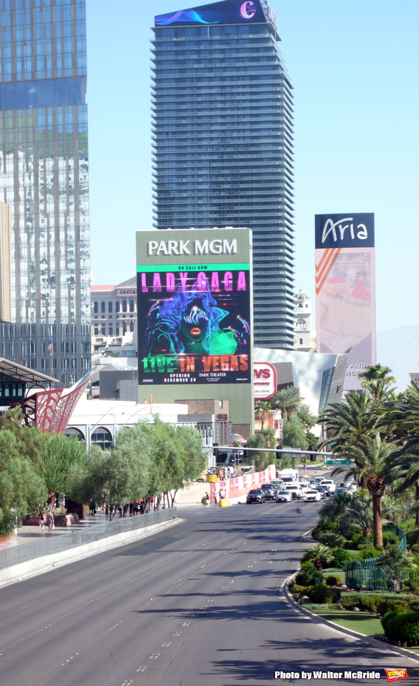 Up on the Marquee: LADY GAGA ENIGMA Live in Vegas