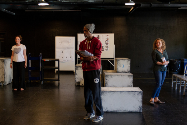 Rebecca Spence (Judy/Ensemble), Terry Bell (Christopher) and Caroline Neff (Siobhan) Photo