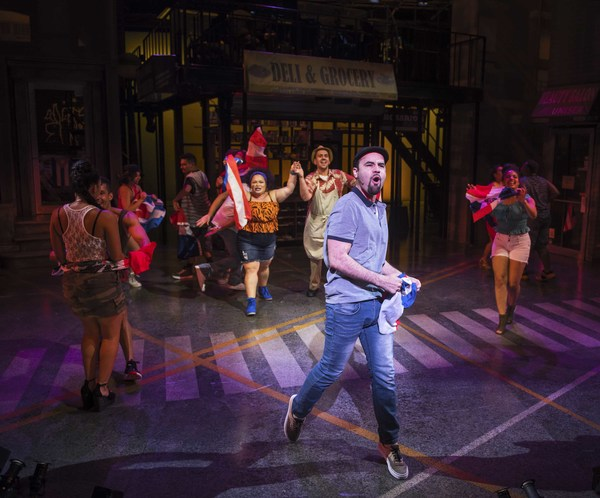 : Ryan Alvarado and the company of In the Heights Photo