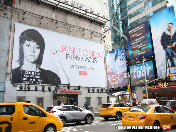 Photo Coverage: Times Square Billboard for HBO's JANE FONDA IN FIVE ACTS