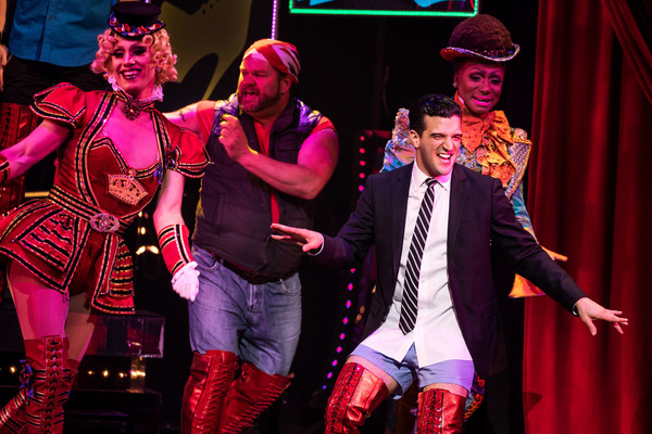 Mark Ballas and cast of Kinky Boots