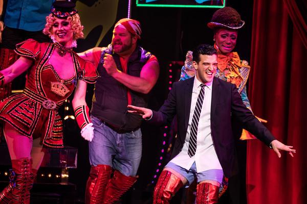 Photo Flash: DANCING WITH THE STARS Vet Mark Ballas Struts Into KINKY BOOTS!