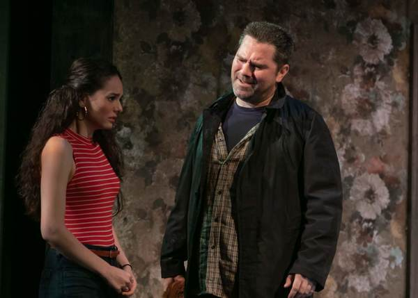 Andrea Morales as Shelly and Roger Clark as Bradley Photo