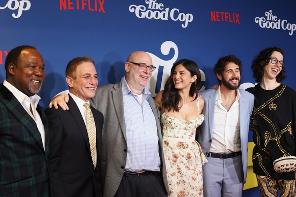 Isiah Whitlock Jr., Tony Danza, Andy Breckman, Monica Barbaro, Josh Groban, and Bill Kottkamp