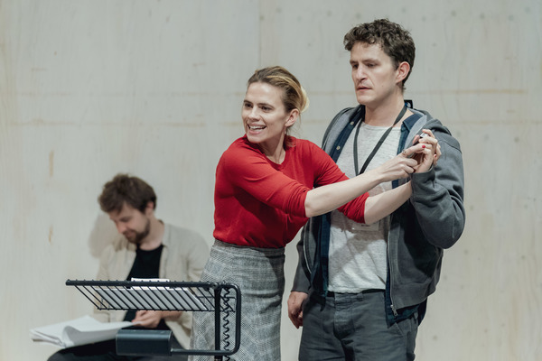 Photo Flash: Hayley Atwell, Jack Lowden, and the Cast in Rehearsal For MEASURE FOR MEASURE