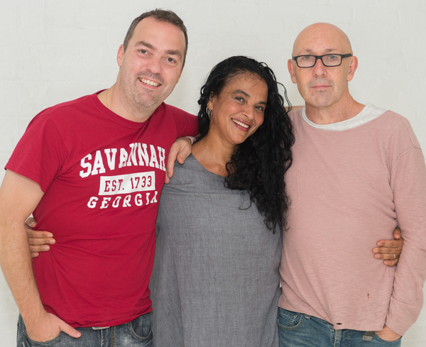 The creative team of Magdalena: Erwin Maas, Gabri Christa and Guy de Lancey. Photo by Photo