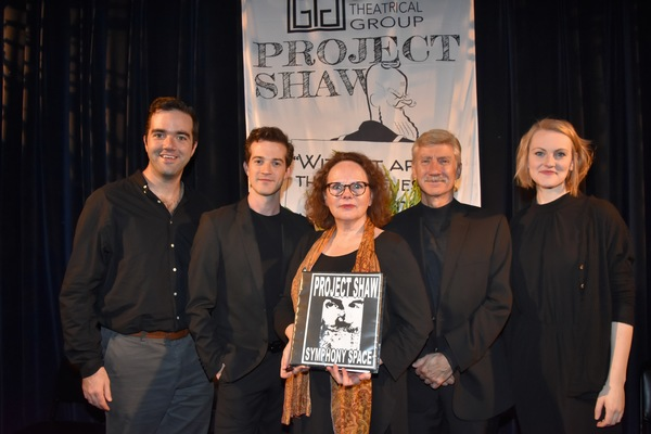 Director Stephen Brown Fried with A.J. Shively, Maryann Plunkett, David Garrison and Kerstin Anderson