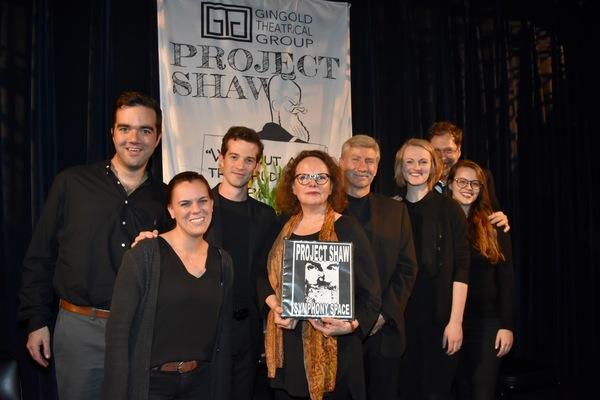 Stephen Brown Fried, A.J. Shively, Maryann Plunkett, David Garrison and Kerstin Anderson with stage managers-Britini Serrano and Lindsay Warnick and Founding Artistic Director David Staller