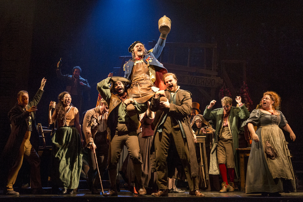 The company performs Master of the House with J Anthony Crane as Thenardier and Allis Photo