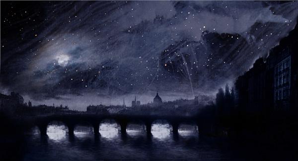 Cyclorama backdrop inspired by Victor Hugo's visual art Photo