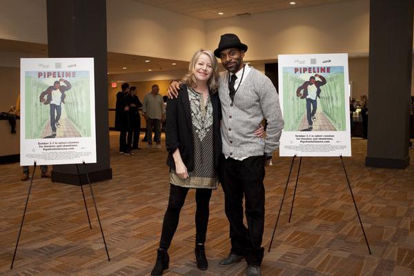cast members Tasha Lawrence and Jaime Lincoln Smith