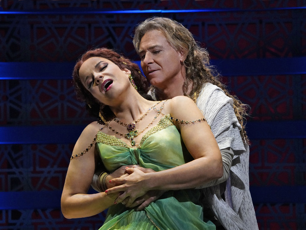 "Roberto Alagna as Samson and Elīna Garanča as Dalila in Saint-Saëns's ""Samso Photo"