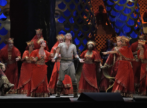 "Roberto Alagna as Samson in Act III of Saint-Saëns's ""Samson et Dalila.""  Photo"