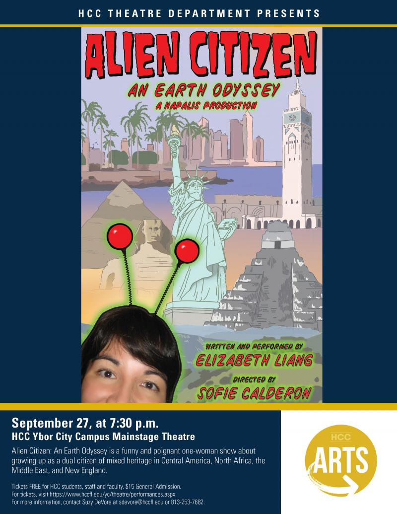 BWW Previews: ALIEN CITIZEN: AN EARTH ODYSSEY, ONE NIGHT ONE-WOMAN SHOW LANDS at HCC Ybor City Theatre