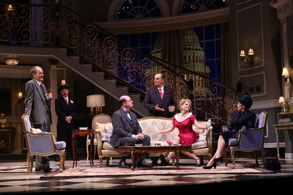 """The cast of the Ford's Theatre production of Garson Kanin's """"Born Yesterday,�"""