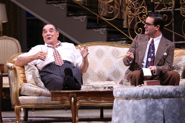 "Edward Gero (as Harry Brock) and Cody Nickell (as Paul Verrall) in the Ford's Theatre production of Garson Kanin's ""Born Yesterday,�"