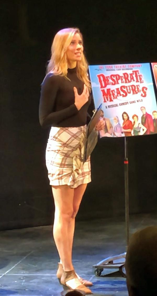 "York ""Desperate Measures� original cast member Emma Degerstedt performs a number from the show."
