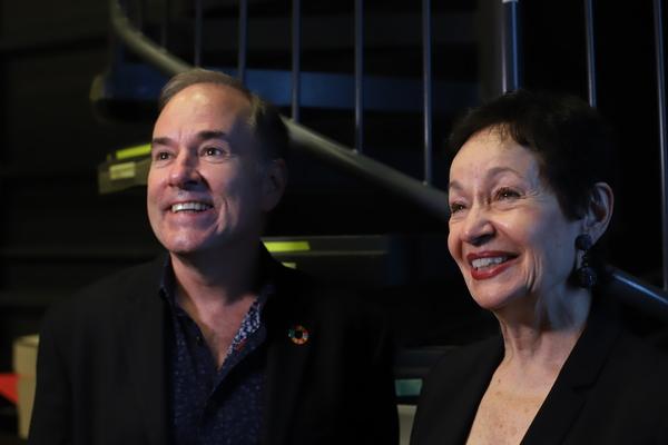 Stephen Flaherty and Lynn Aherns