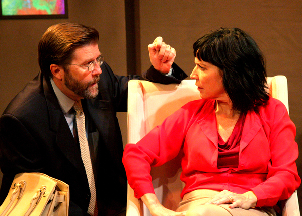 Rob Hastings as Ian and Jacqueline Wright as Juliana in the regional premiere of Sharr White's The Other Place